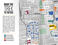 Make the Trek to the Rec : Campus Map