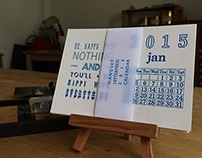 2015 Letterpress Handset Calendar