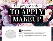 Infographic: The Proper Order to Apply Makeup