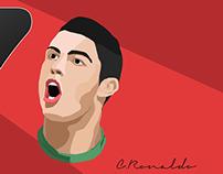 Ronaldo Painting Vector