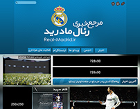 Real-Madrid.ir Website Design