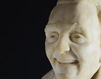 """""""le radici dell'arte"""" - busto ritratto in creta"""