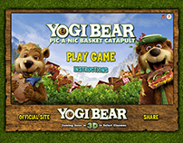 Yogi Bear: Pic-A-Nic Basket Catapult Game