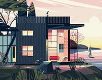 CABINS BOOK - illustrations