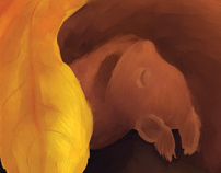 Sleeping squirrel