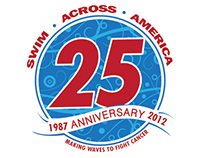 Swim Across America 25th Anniversary Logo Mark
