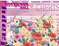 November Calendar Design