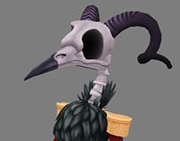 Undead Bird Ram - 3D Character
