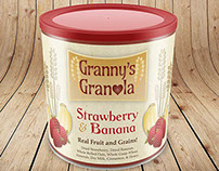 Granny's Granola | Logo & Continuous Label