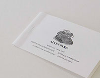 Business Card For Writer Alvin Pang