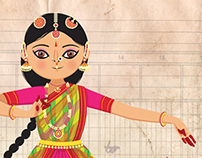 Rukmini dances the Bharatanatyam