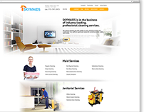Web site for cleaning services