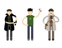 LE VISITEUR DU FUTUR - Character Illustration