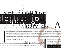 Destruction - Typography