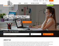 Home page of IT services company
