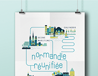 Affiche Normandie Réunifiée