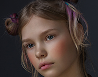 Flower. Children's fashion photo