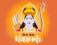 Ram Navmi vector template