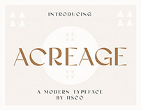Acreage - A Modern Display Typeface