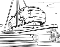 SHELL 'Helix Ultra' TVC storyboards