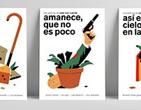 Amanece que no es poco — serie de tres carteles