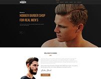 Hobber - Barbershop, Hair & Salon PSD Template