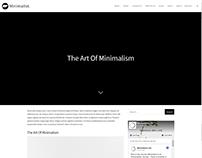 Blog Single Post Page - Minimalist WordPress Theme