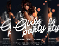 Girls Party Night - Club A5 Template