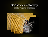 Boost your creativity. Poster making process.