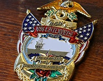 Tattoo-Inspired Challenge Coin U.S.S. Enterprise
