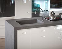 Kitchen - Wizualizacja betonowy blat kuchenny