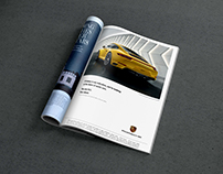Porsche ads and marketing materials