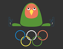 Olympic games: an athletic and egocentric parrot