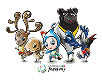 Universiade Taipei Logo (Mascot is designed by黃鼎翔)