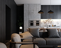 CGI - LIVING ROOM - BLACK