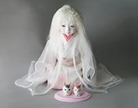 三つ折れ人形 Three fold doll