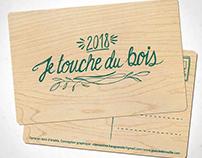 """Cartes en bois """"Je touche du bois"""""""