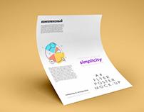 Free A4 Creative Flyer Mockup