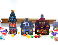 Halloween Candy House Boxes