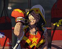 Boxer Wonder Woman