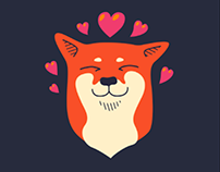 Shibe iMessage sticker pack
