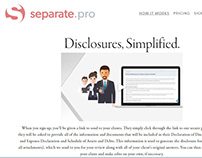 Separate.Pro, Startup SaaS software