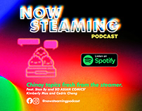 Now Steaming Podcast Visual Brand Identity