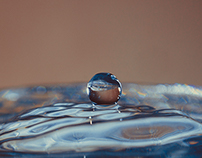Macro drops of water in the home