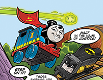 Thomas & Friends/DC Minis Packaging Art