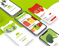 Download Free Fruit Delivery app UI UX Kits