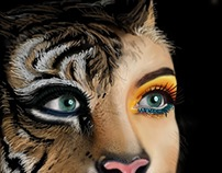 Woman Tiger Morphed