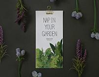 """Calendar for 2016 """"Nap in Your Garden"""""""
