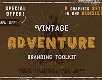 68%OFF Vintage Adventure Branding Toolkit