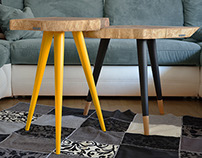 STILL WOOD Coffee Tables - Yellow&Black